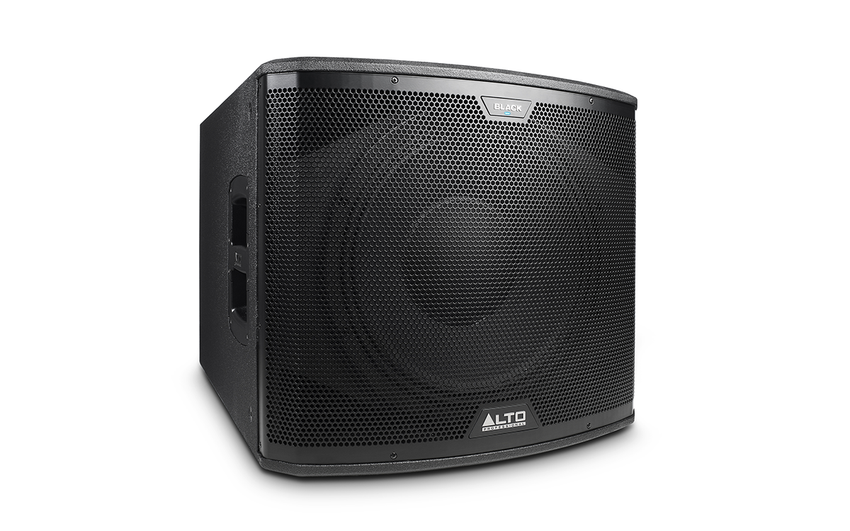 Alto Professional Legacy Speakers Series Black 15 Sub Active Subwoofer Crossover Electronic Design Angle