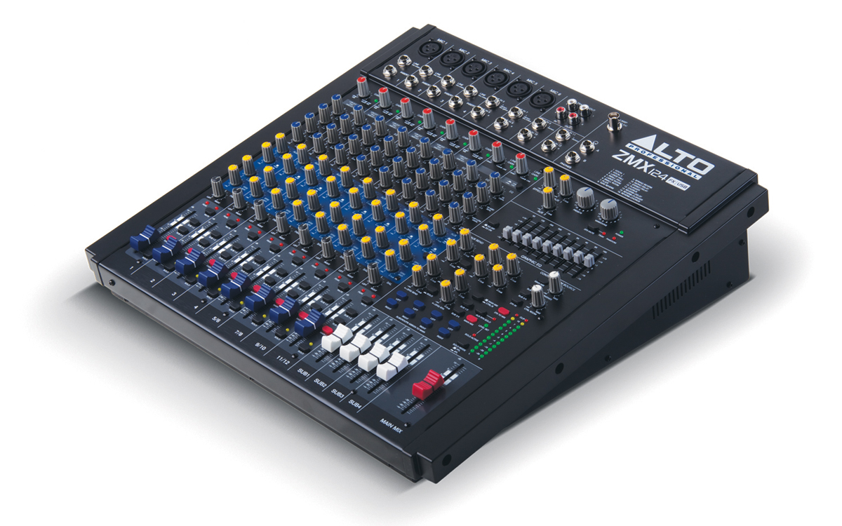 Alto Professional Legacy Mixers Series Zmx124fx Usb Dj Equipment Setup Diagram An Equalizer The Angle