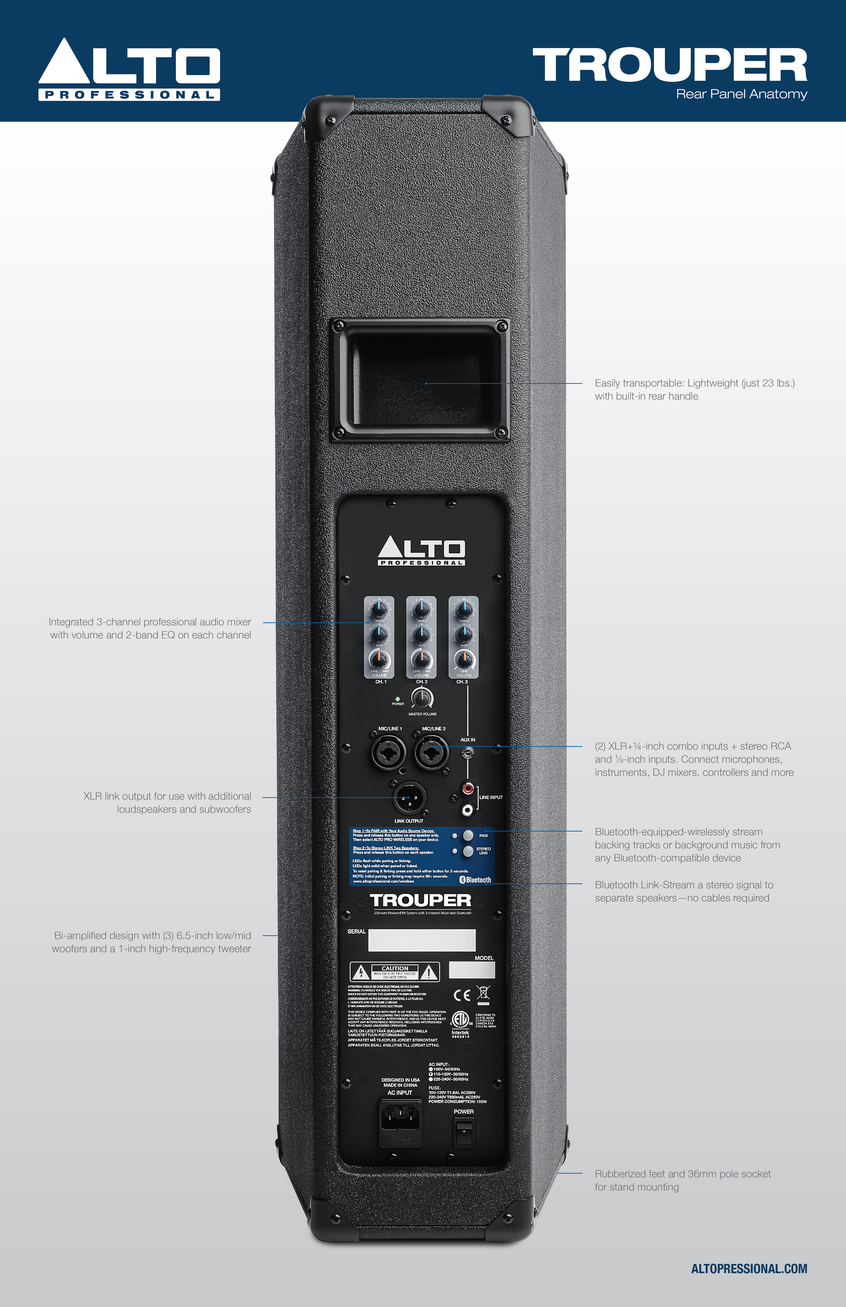 Alto Professional Highlighted Products Series Gt Trouper